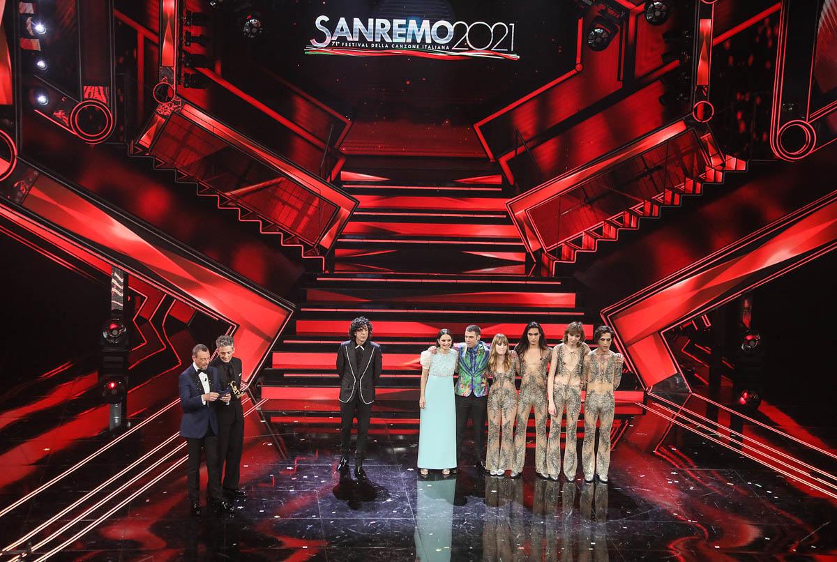 SANREMO (IMPERIA) 6 MARZO 2021 SERATA FINALE DEL 71 FESTIVAL DELLA CANZONE ITALIANA DI SANREMO  NELLA FOTO
