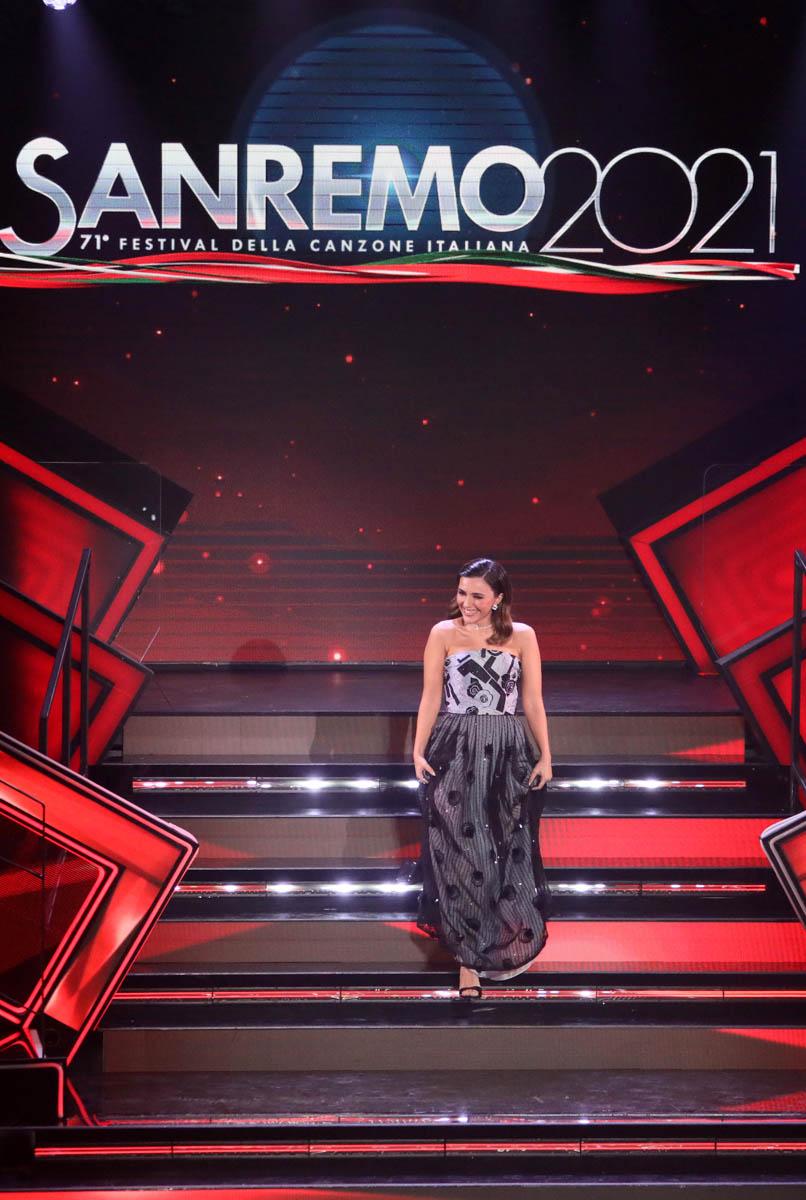 SANREMO (IMPERIA) 6 MARZO 2021 SERATA FINALE DEL 71 FESTIVAL DELLA CANZONE ITALIANA DI SANREMO  NELLA FOTO SERENA ROSSI