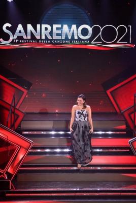 SANREMO (IMPERIA) 6 MARZO 2021 SERATA FINALE DEL 71 FESTIVAL DELLA CANZONE ITALIANA DI SANREMONELLA FOTO SERENA ROSSI