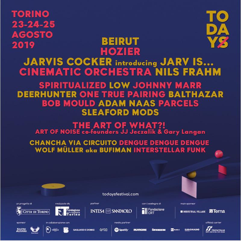 Annunciato il cartellone completo della quinta edizione del TOdays Festival (23-25 agosto)