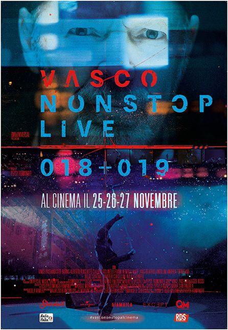 LOCANDINA VASCO NON STOP LIVE 018- 019 CINEMA