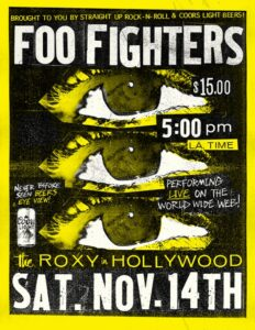 LOCANDINA FOO FIGHTERS