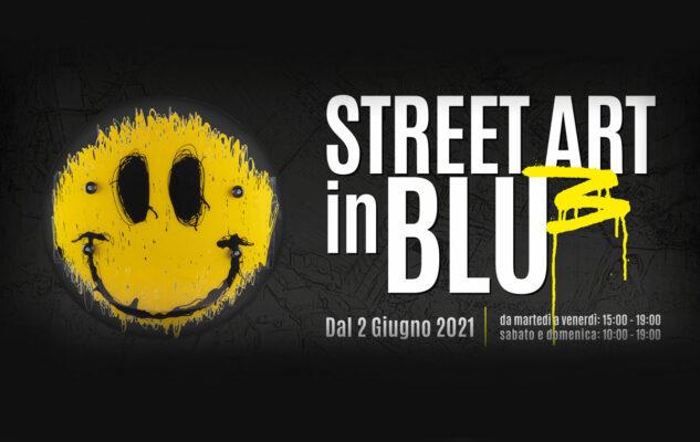 Street Art in blu Locandina