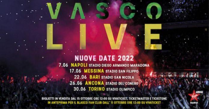 Vasco Live nuove date 2022